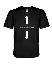 Two Seater Arrow Funny Novelty Shirt V-Neck T-Shirt thumbnail