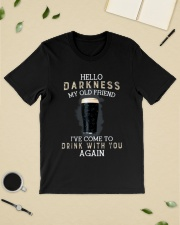 Hello darkness my old friend i've come to drink ts Classic T-Shirt lifestyle-mens-crewneck-front-19