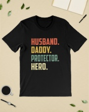 Mens Husband Daddy Protector Hero Shirt Vintage Classic T-Shirt lifestyle-mens-crewneck-front-19