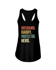 Mens Husband Daddy Protector Hero Shirt Vintage Ladies Flowy Tank thumbnail