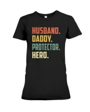 Mens Husband Daddy Protector Hero Shirt Vintage Premium Fit Ladies Tee thumbnail