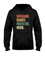 Mens Husband Daddy Protector Hero Shirt Vintage Hooded Sweatshirt thumbnail