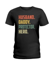 Mens Husband Daddy Protector Hero Shirt Vintage Ladies T-Shirt thumbnail