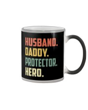Mens Husband Daddy Protector Hero Shirt Vintage Color Changing Mug thumbnail