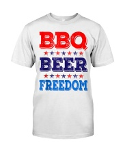BBQ Beer Freedom T Shirts Classic T-Shirt front