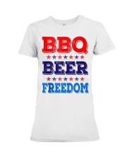 BBQ Beer Freedom T Shirts Premium Fit Ladies Tee thumbnail
