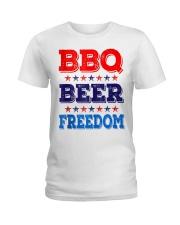 BBQ Beer Freedom T Shirts Ladies T-Shirt thumbnail