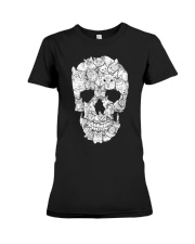 skull made of cats t shirt Premium Fit Ladies Tee thumbnail