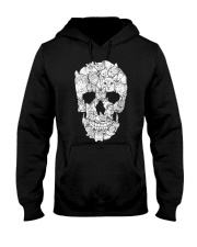 skull made of cats t shirt Hooded Sweatshirt tile