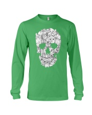 skull made of cats t shirt Long Sleeve Tee tile