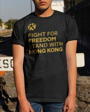 fight for freedom stand with hong kong t shirt Classic T-Shirt apparel-classic-tshirt-lifestyle-29