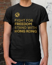 fight for freedom stand with hong kong t shirt Classic T-Shirt apparel-classic-tshirt-lifestyle-30