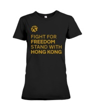 fight for freedom stand with hong kong t shirt Premium Fit Ladies Tee thumbnail