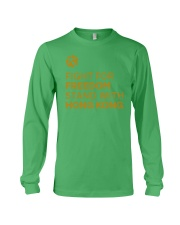 fight for freedom stand with hong kong t shirt Long Sleeve Tee thumbnail