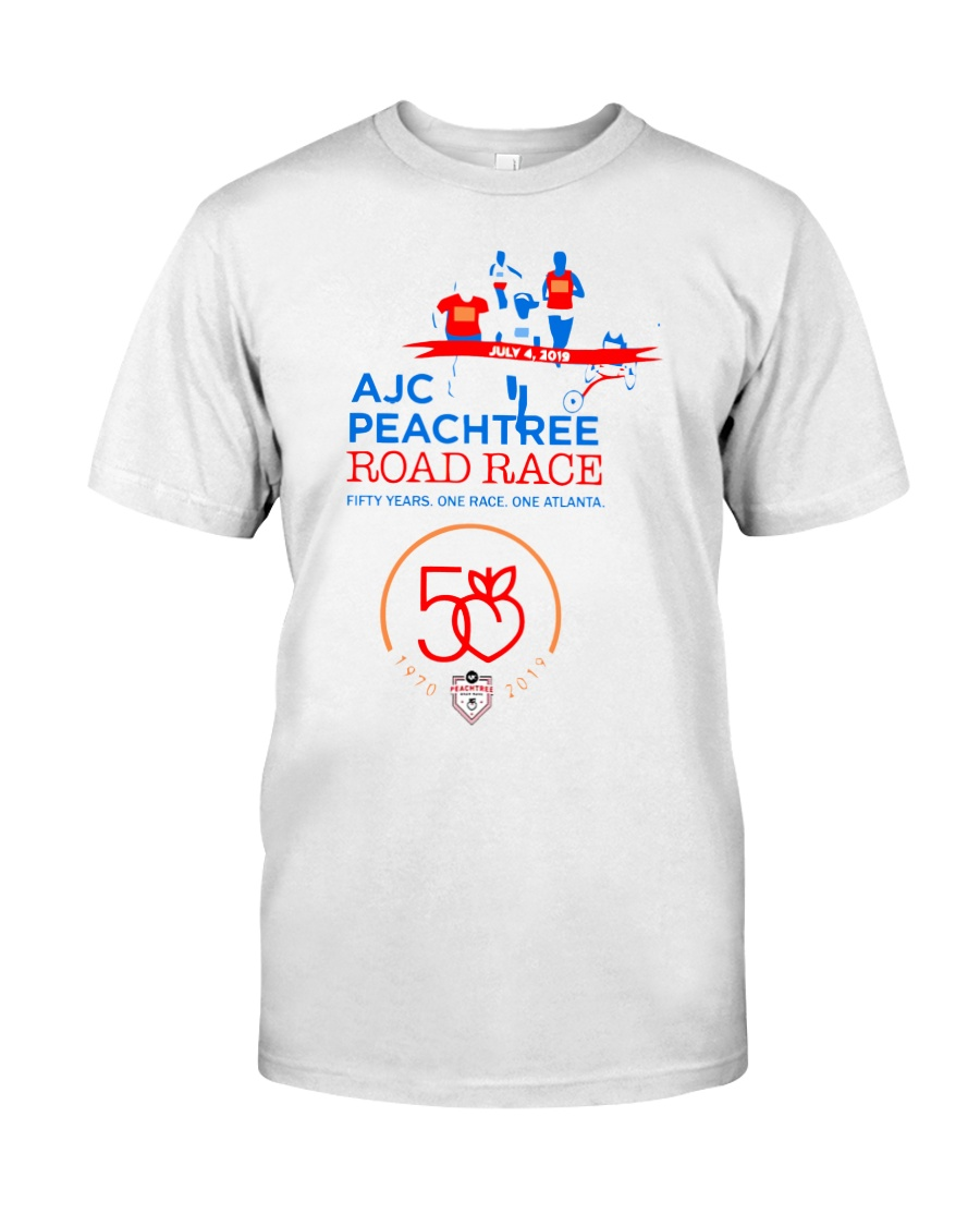 peachtree road race shirt 2019