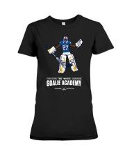 Tre White Goalie Academy T Shirt Premium Fit Ladies Tee thumbnail