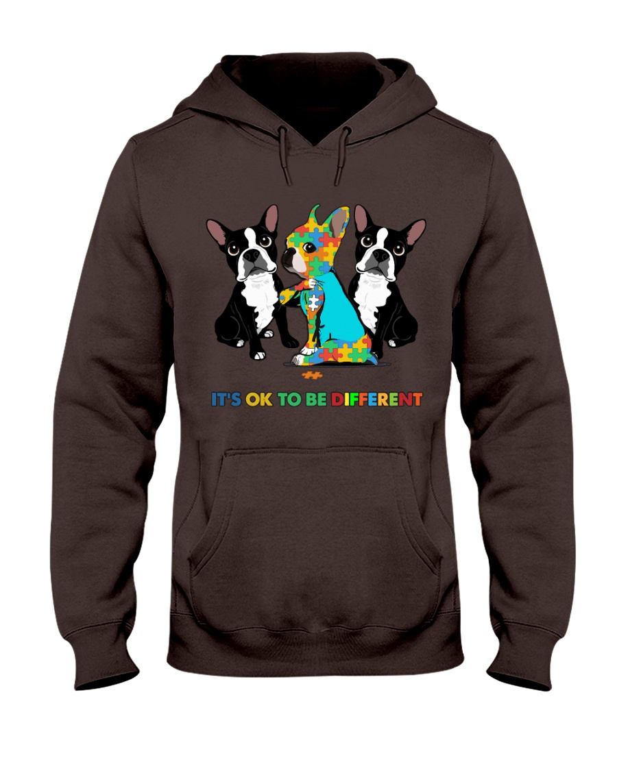 171360 Dog It's ok to be different dog hoodie Hooded Sweatshirt