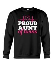 Proud Aunt of twins Crewneck Sweatshirt thumbnail