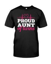 Proud Aunt of twins Classic T-Shirt front
