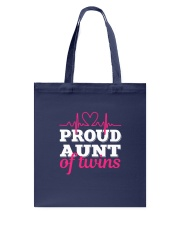 Proud Aunt of twins Tote Bag thumbnail