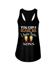 You cant scare me I have twin Sons Ladies Flowy Tank thumbnail