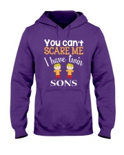 You cant scare me I have twin Sons Hooded Sweatshirt thumbnail