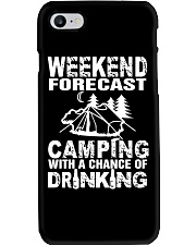 Weekend Forecast Camping With A Chance Of Drinking Phone Case thumbnail