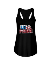 usa pride Ladies Flowy Tank thumbnail