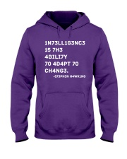 Intelligence Is The Ability To Adapt To Change Hooded Sweatshirt thumbnail