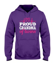 Proud Grandma of twins Hooded Sweatshirt thumbnail
