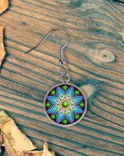 Green Native America Earrings Circle Earrings aos-earring-circle-front-lifestyle-4