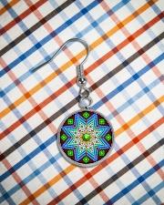 Green Native America Earrings Circle Earrings aos-earring-circle-front-lifestyle-9
