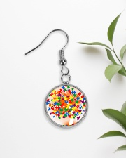 Autism Tree Circle Earrings aos-earring-circle-front-lifestyle-7