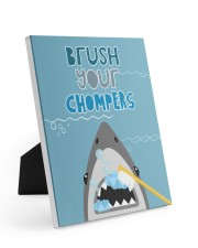 BRUSH YOUR CHOMPERS POSTER 8x10 Easel-Back Gallery Wrapped Canvas thumbnail