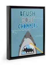 BRUSH YOUR CHOMPERS POSTER 11x14 Black Floating Framed Canvas Prints thumbnail