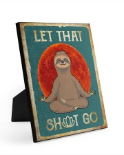 LET THAT SH GO 8x10 Easel-Back Gallery Wrapped Canvas thumbnail