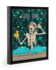 BATH TIME POSTER 11x14 Black Floating Framed Canvas Prints thumbnail