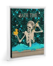 BATH TIME POSTER 11x14 White Floating Framed Canvas Prints thumbnail