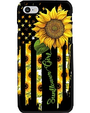 SUNFLOWER GIRL PC Phone Case i-phone-8-case