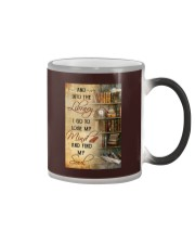 INTO THE LIBRARY I GO - POSTER Color Changing Mug tile