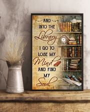 INTO THE LIBRARY I GO - POSTER 11x17 Poster lifestyle-poster-3