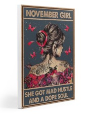 NOVEMBER GIRL Gallery Wrapped Canvas Prints tile