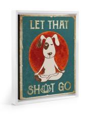 LET THAT SH GO  Floating Framed Canvas Prints White tile