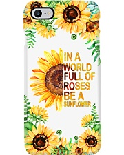 IN A WORLD FULL OF ROSES BE A SUNFLOWER Phone Case i-phone-7-case