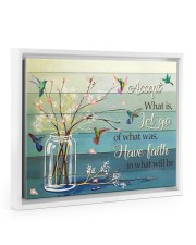 ACCEPT WHAT IS 14x11 White Floating Framed Canvas Prints thumbnail