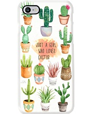 JUST A GIRL WHO LOVES CACTUS Phone Case i-phone-8-case