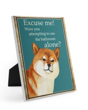 EXCUSE ME Easel-Back Gallery Wrapped Canvas tile