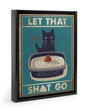 LET THAT SH GO Floating Framed Canvas Prints Black tile