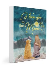 I Love You To The Moon and Back Poster  11x14 Gallery Wrapped Canvas Prints thumbnail
