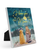 I Love You To The Moon and Back Poster  8x10 Easel-Back Gallery Wrapped Canvas thumbnail